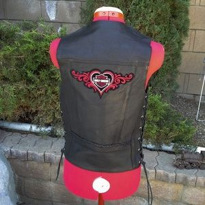 Vance Leathers Harley Davidson lace-up vest